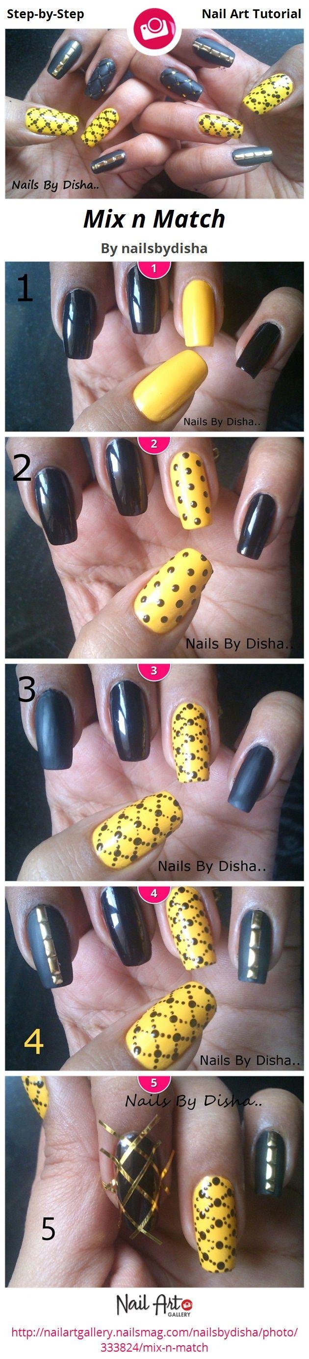 Mix n Match by nailsbydisha - Nail Art Gallery Step-by-Step ...