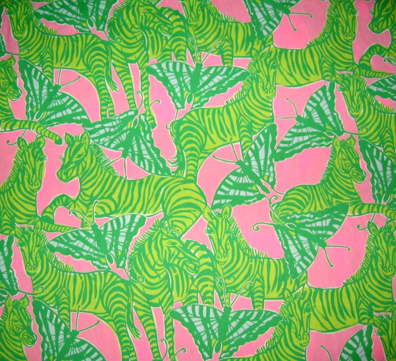 Lilly Pulitzer Fabric Authentic New Lilly Pulitzer Fabric Brazilian Avenue 1 Yard X 57