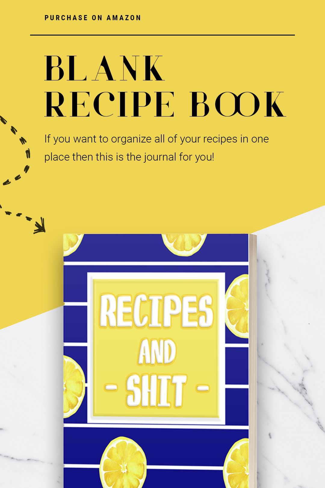 Recipes And Shit Blank Empty Recipe Book With Lemon Design In 2020 Recipe Book New Cooking Other Recipes