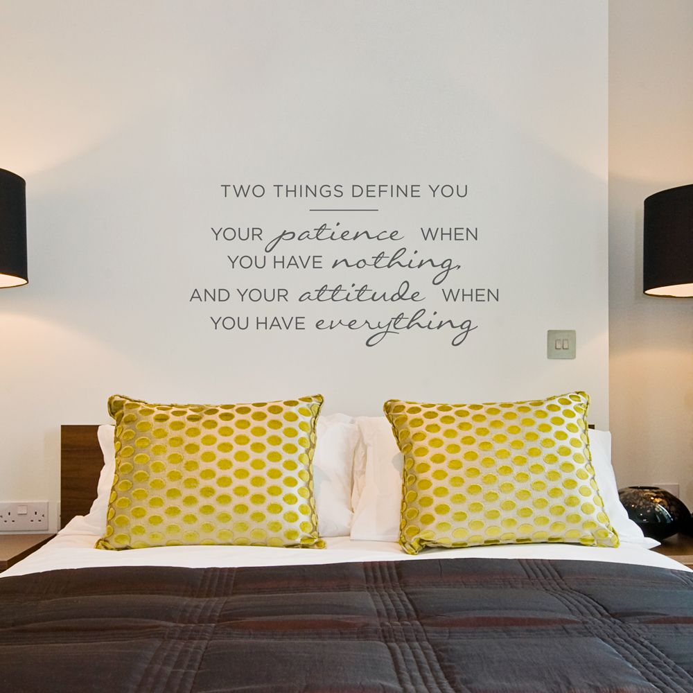 Two Things Define You... Wall Quote Decal | House Projects ...