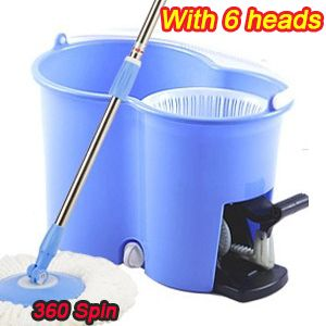 360 Spin Rotate Magic Mop Amp Bucket Amp 6 Heads As Seen On Tv Blue High Quality Factory Wholesale 38 99 Mop Handle Spin Mop Mop Heads