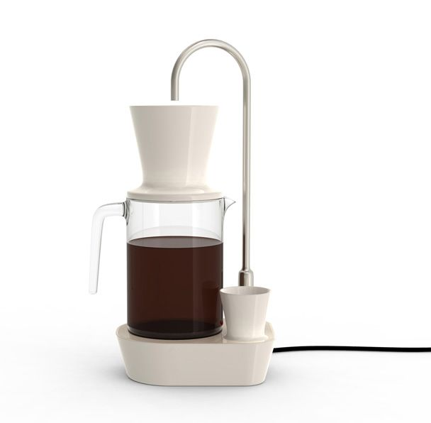 The shape is interesting, but overall this looks like it belongs in a dentist's office. And I wonder how practical a dedicated water line is... | Alban le Henry / coffee maker, 2009