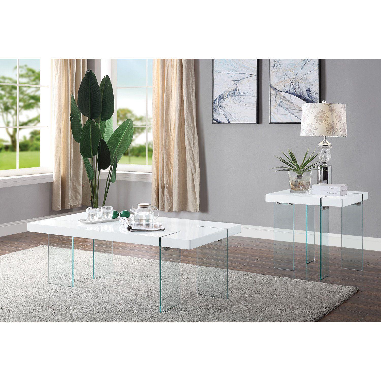 Acme 81460 Nolan White Glass Finish 3 Piece Coffee Table Set Coffee Table 3 Piece Coffee Table Set Dining Table Dimensions [ 1500 x 1500 Pixel ]