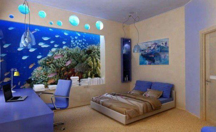 L\' aquarium mural en 41 images inspirantes!   Aquariums