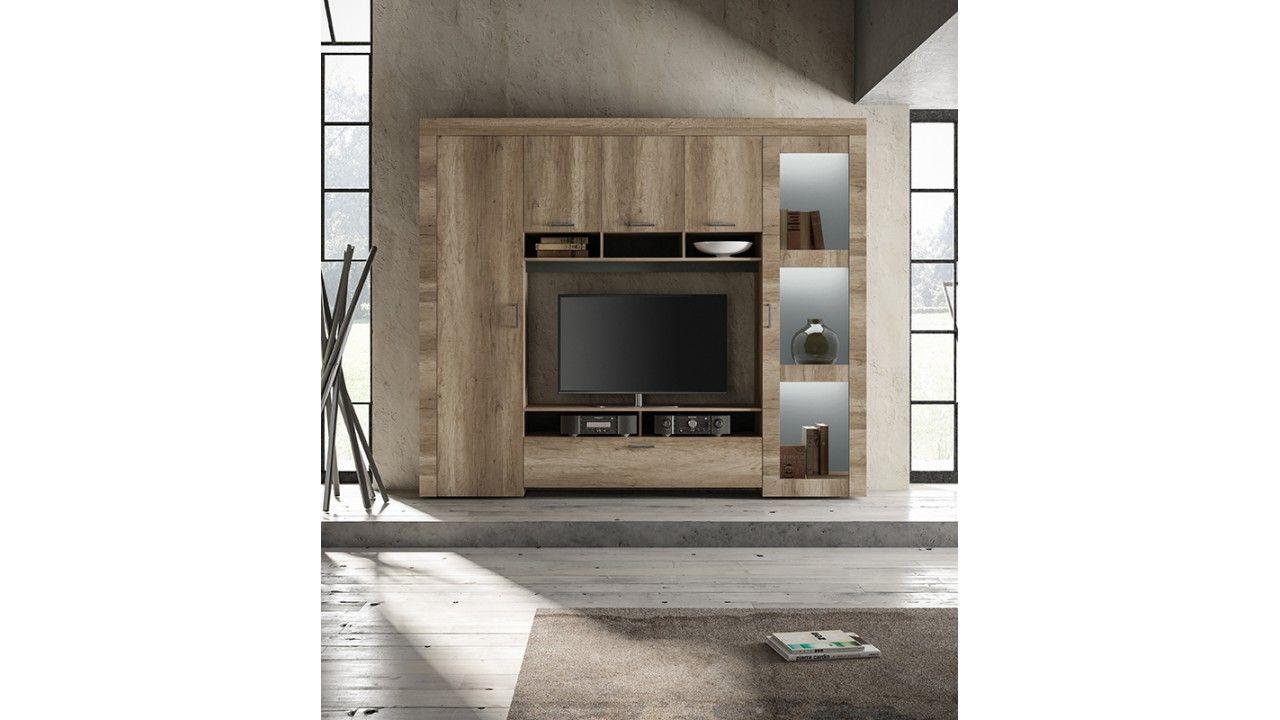 meuble tv mural design en chene canyon