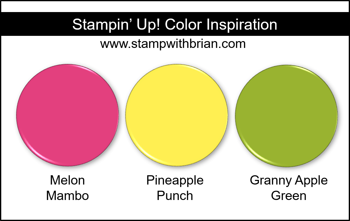 Stampin Up Color Inspiration Melon Mambo Pineapple