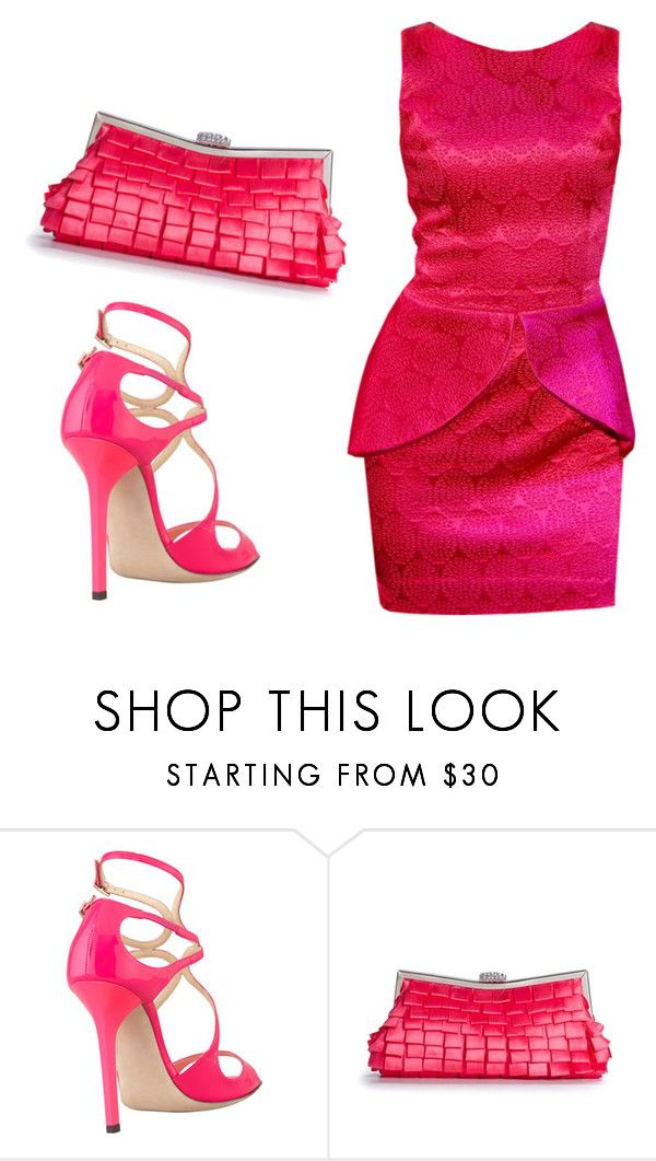 """Untitled #3514"" by ania18018970 ❤ liked on Polyvore featuring Jimmy Choo and Lulu Townsend"