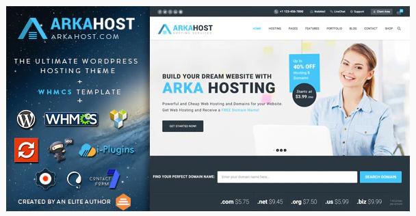 ArkaHost WHMCS WordPress Theme in 2020 Premium