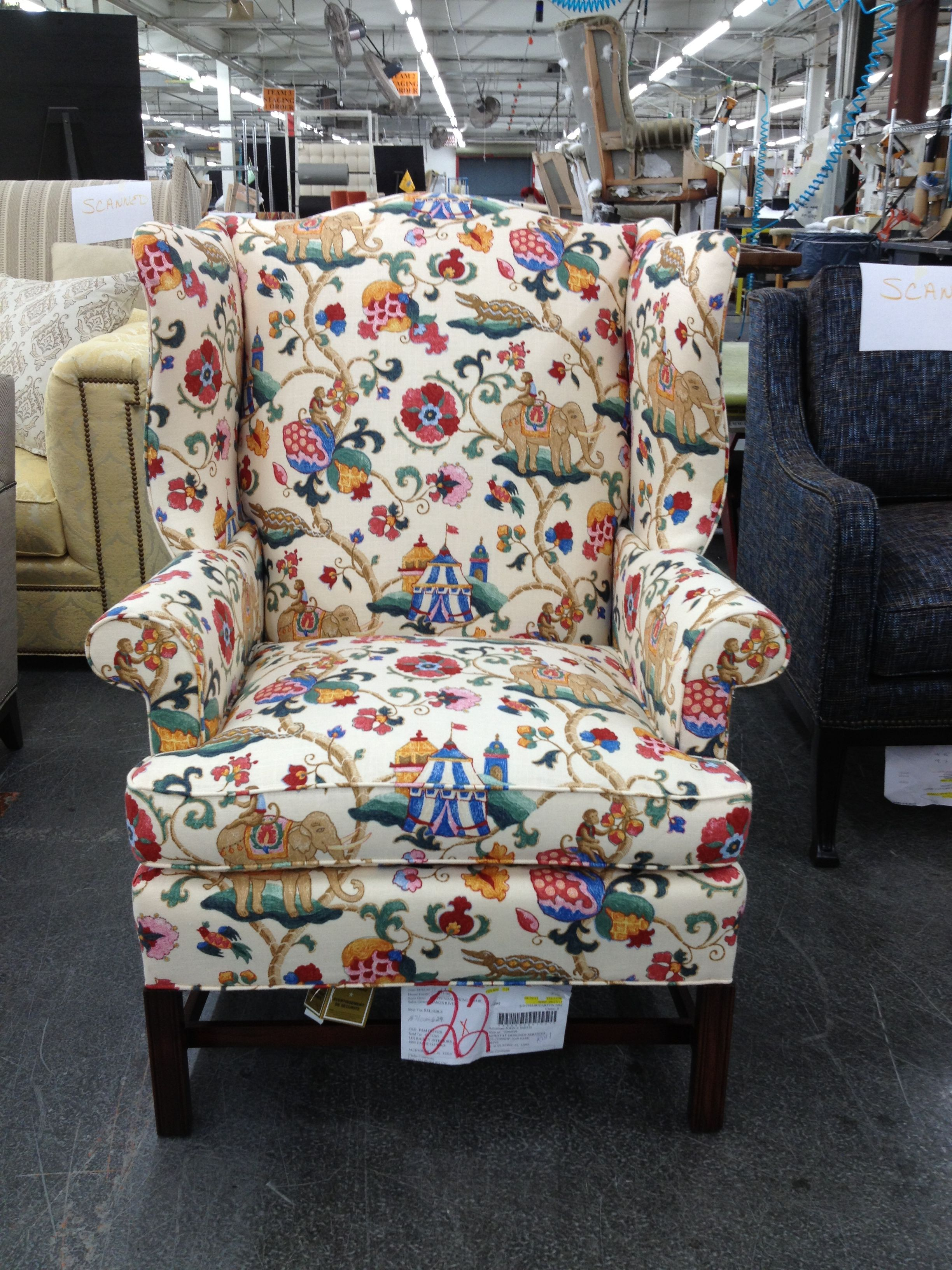 A whimsical COM fabric brings this James River Collection