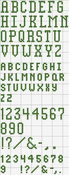 Block Alphabet 25 Printable Cross Stitch Pattern | friendship ...