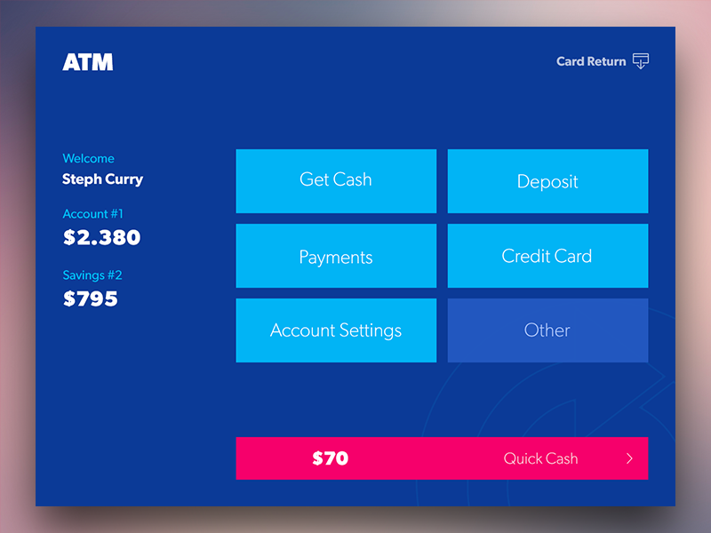 ATM Concept Design Kiosk, Ui ux and Ui inspiration