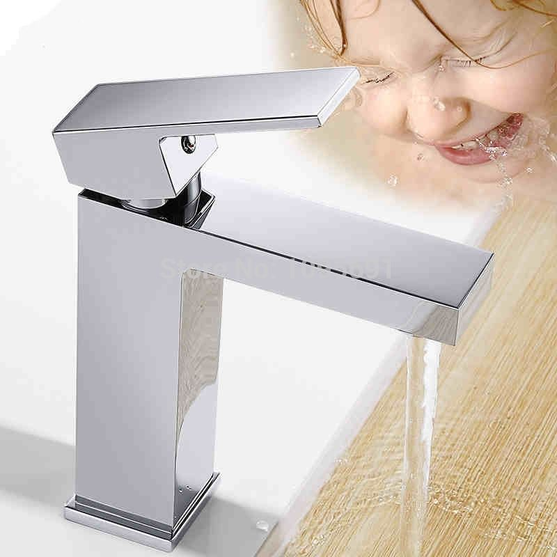 NEW Square European faucet Basin faucet Bathroom Lavatory Single ...