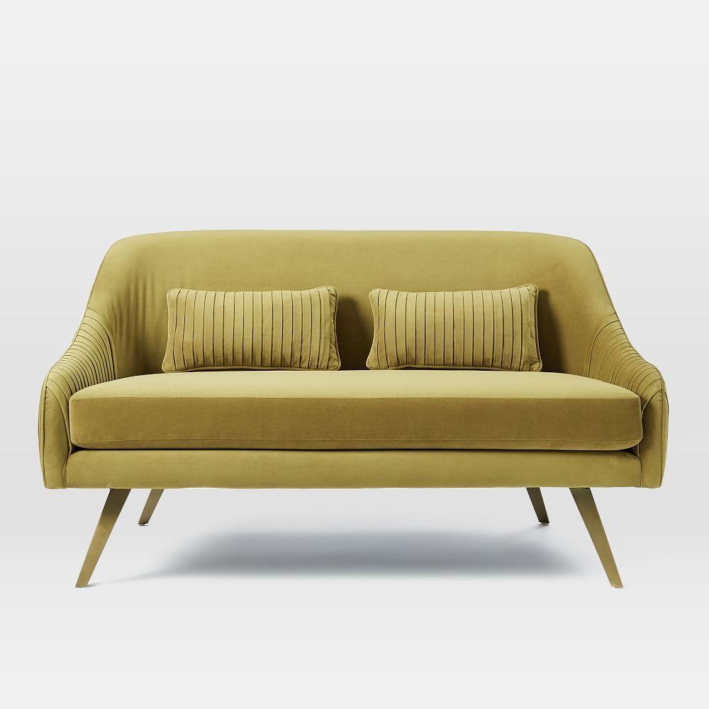 Roar Rabbit Glamour Velvet Sofa 60 Velvet Furniture Furniture Velvet Sofa