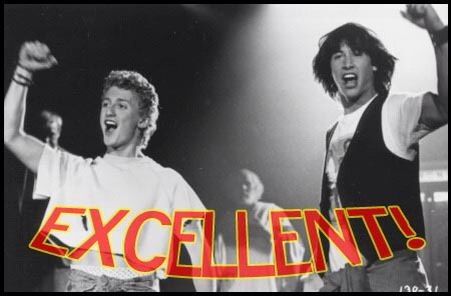 Image result for bill and ted most excellent