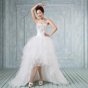 2013 new Deluxe chest trailing long Korean wedding dresses hand ...