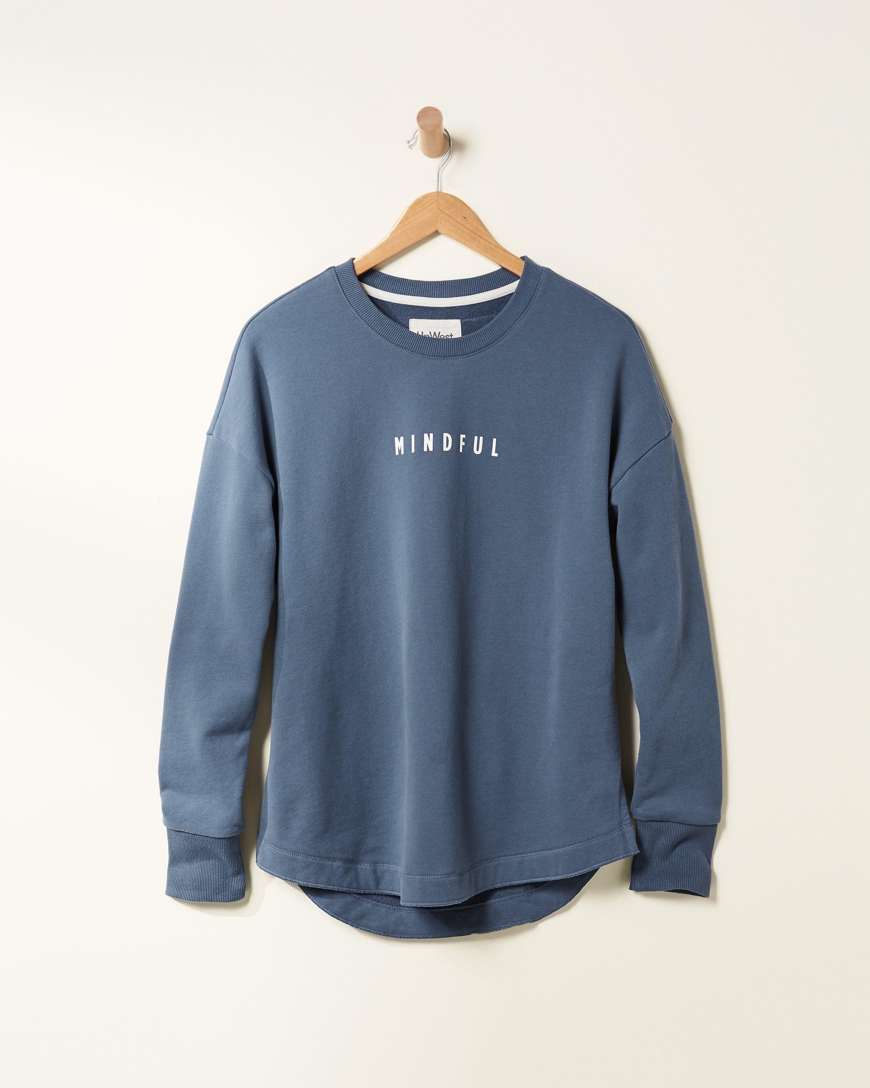 Mindful Sweatshirt Blue Ridge L Simple Sweatshirt Sweatshirt Designs Sweatshirts [ 3600 x 2880 Pixel ]