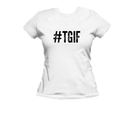 #TGIF Hashtag Womens Organic Cotton T-Shirt