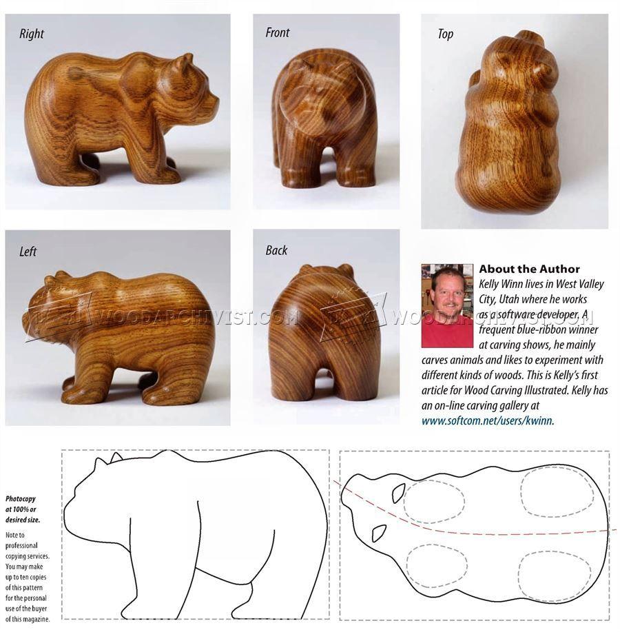 Ведмідь carving різьблення по дереву Шаблони Різьба по