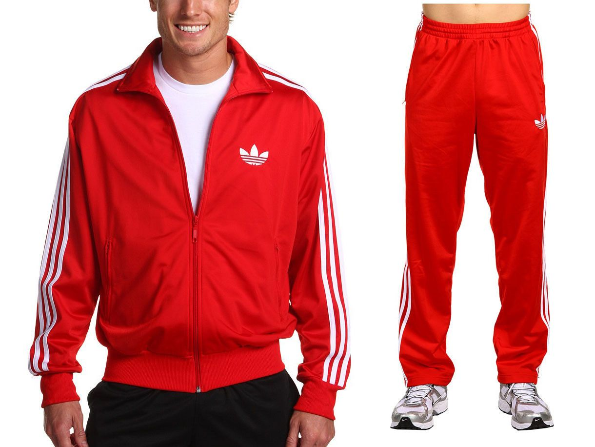 d6da7e6f6fba Adidas Originals Firebird Mens Red Track Suit Jacket Amp Pants Sz XL ...