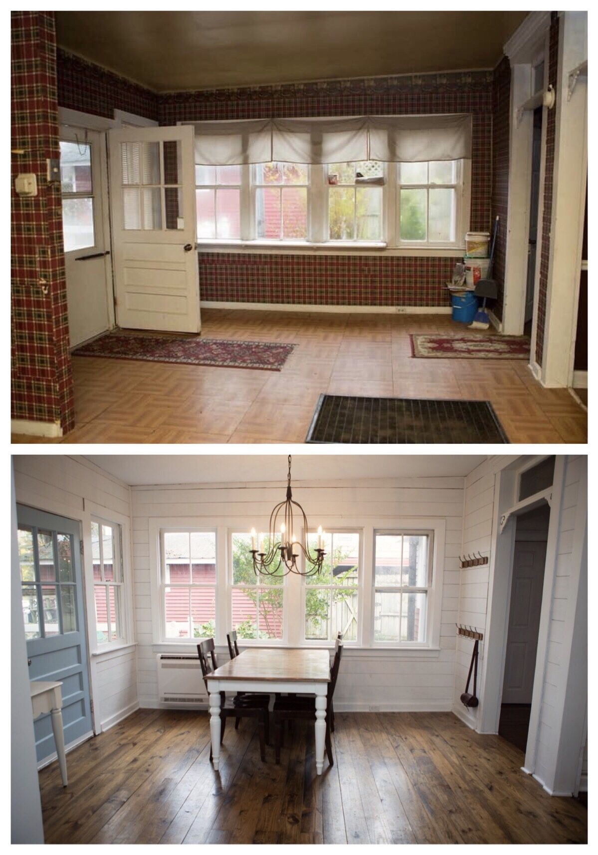Fixer Upper Before And After Eat In Kitchen Fixer Upper House Old Houses Renovation Fixer Upper Farmhouse
