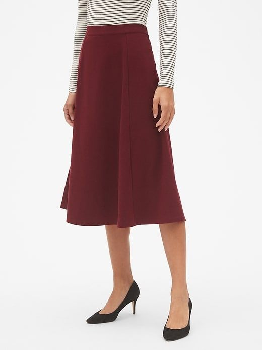 71c62da021 Midi Circle Skirt in Ponte in 2019 | Products | Office skirt outfit ...