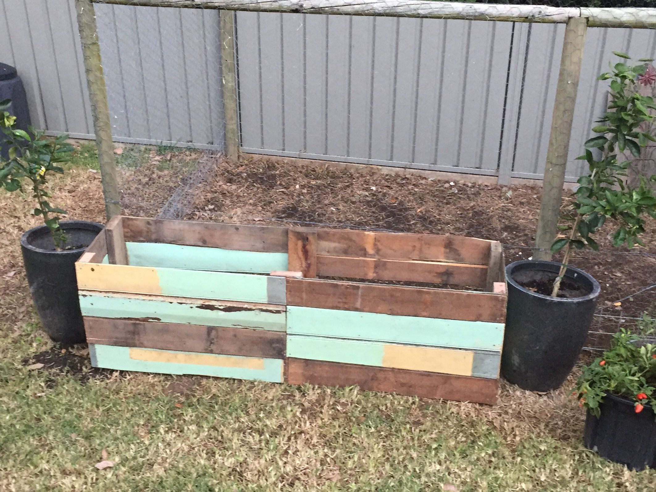 DIY Vegetable planter box made from recycled wood