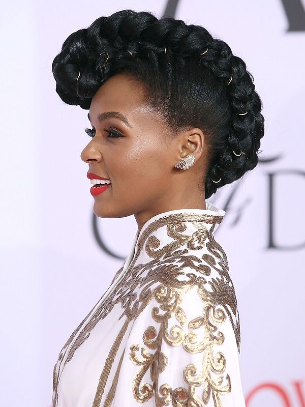 Hair Expo Awards 2015 : Cfda awards janelle monae and emmy rossum show how
