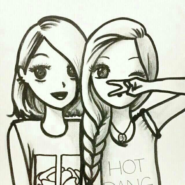Aww Cute Drawings Of Friends Bff Drawings Best