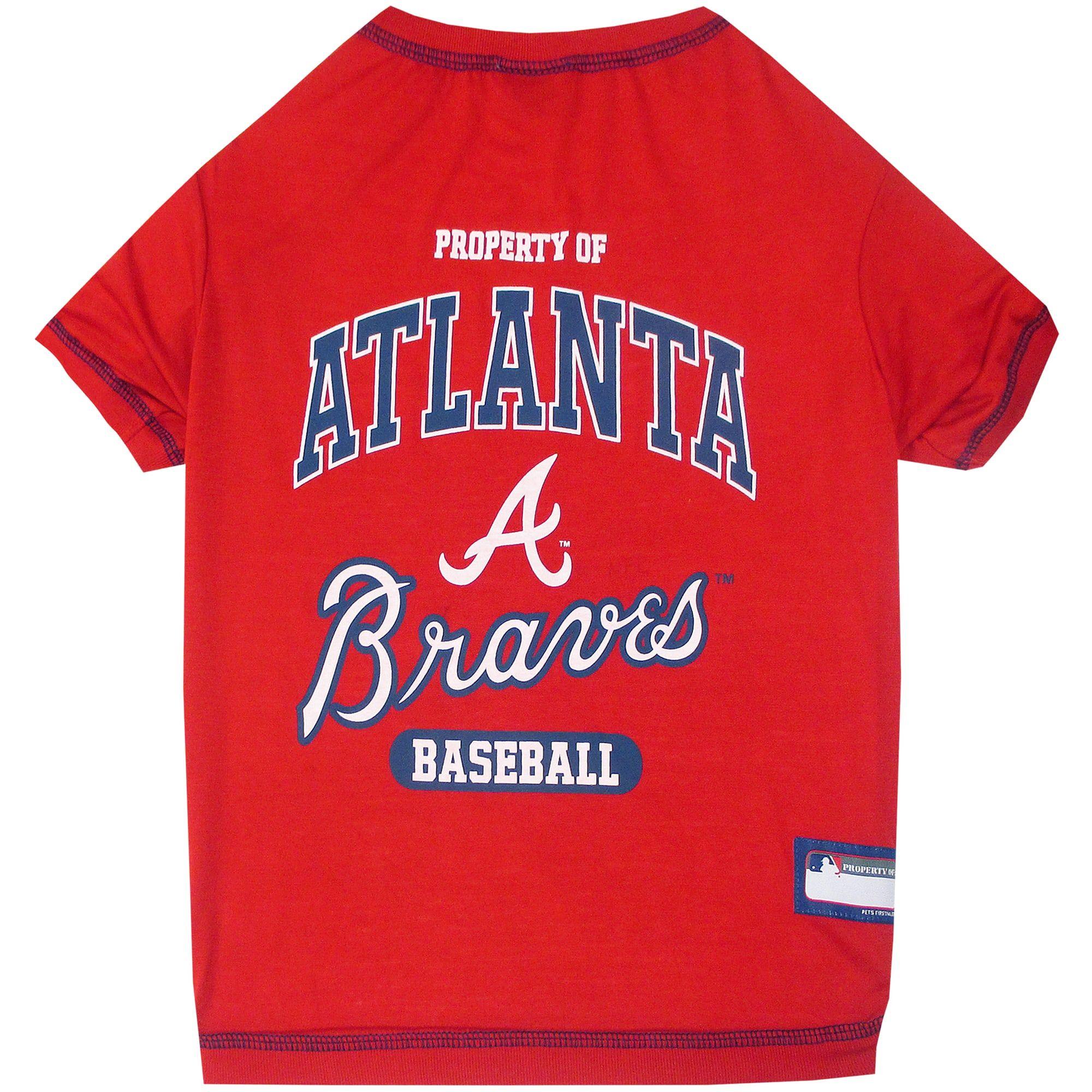 Pets First Atlanta Braves T Shirt Medium In 2020 Atlanta Braves Tee Shirts Dog Shirt