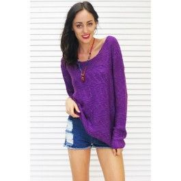 Jumper Sweater Winter Brights in Purple $45.99 mombasarose.com