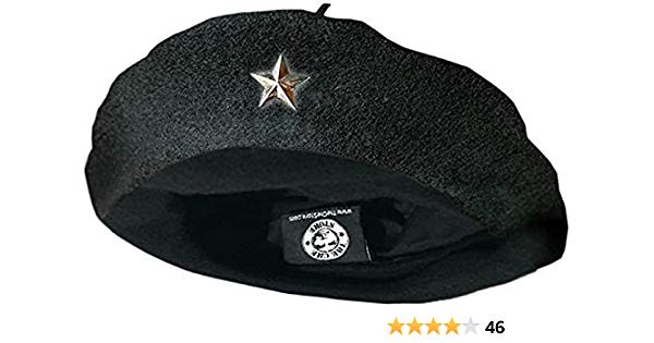 Che Guevara Store Beret Black Original Beret Silver Star Medium Amazon In Clothing Accessories Beret Silver Stars Black