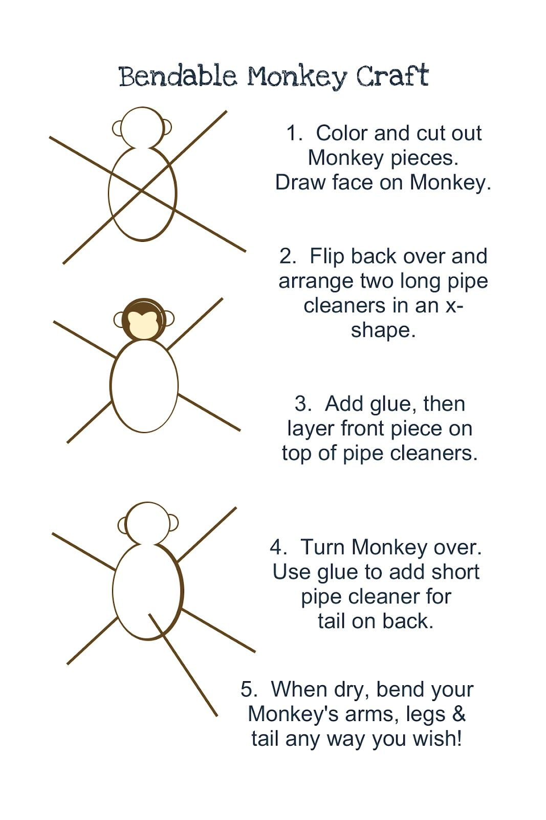 Craft Interrupted Monkey Party Activities