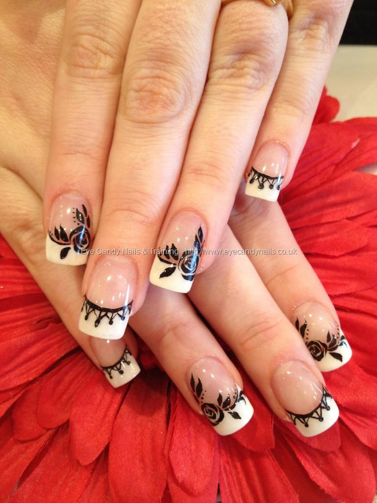 eye candy Nails & Training - Nails Gallery: Acrylic nails with white ...