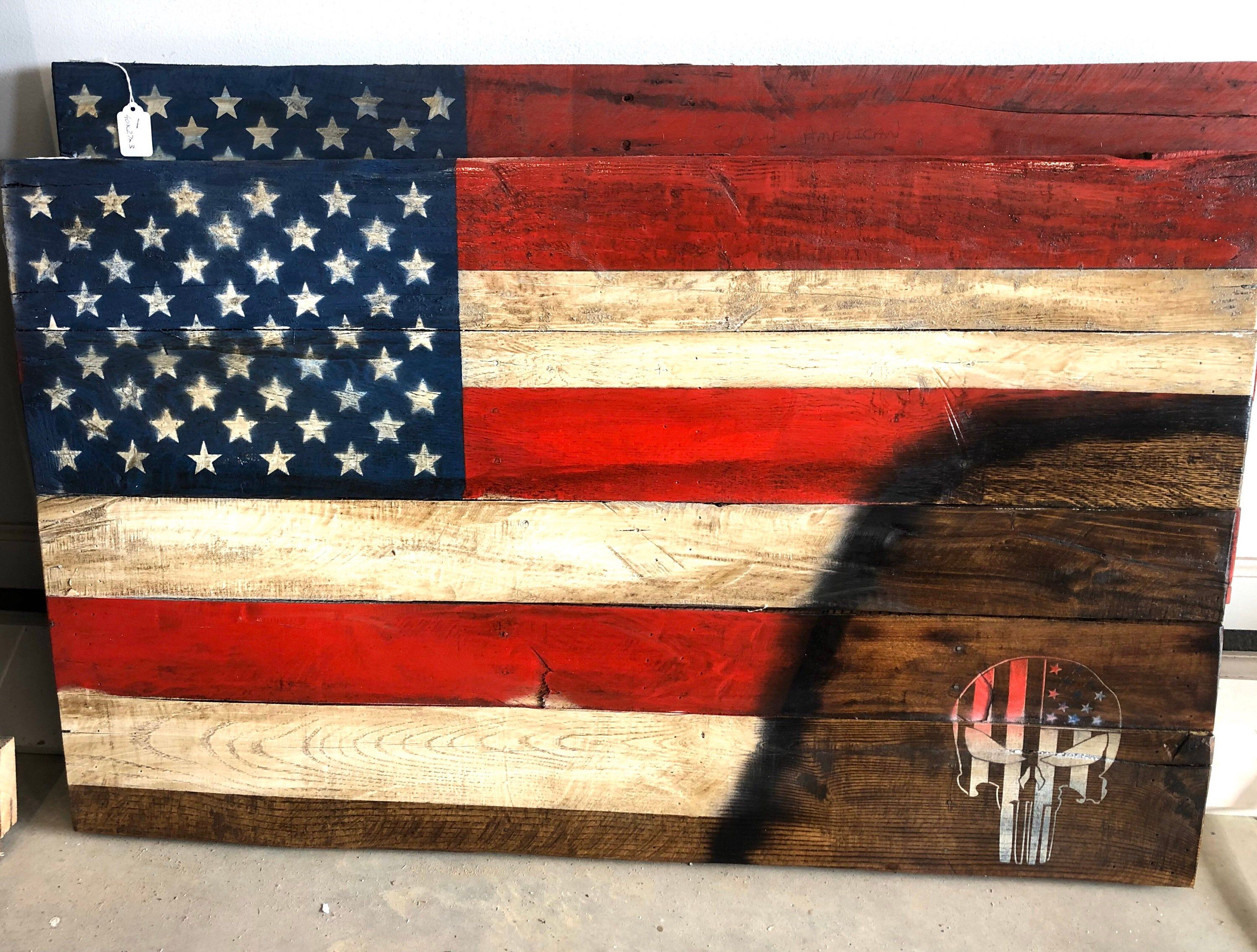 Excited To Share The Latest Addition To My Etsy Shop Wood Flag Wall Art American Flag Wall Hanging Sk Wood Flag American Flag Art American Flag Wall Hanging