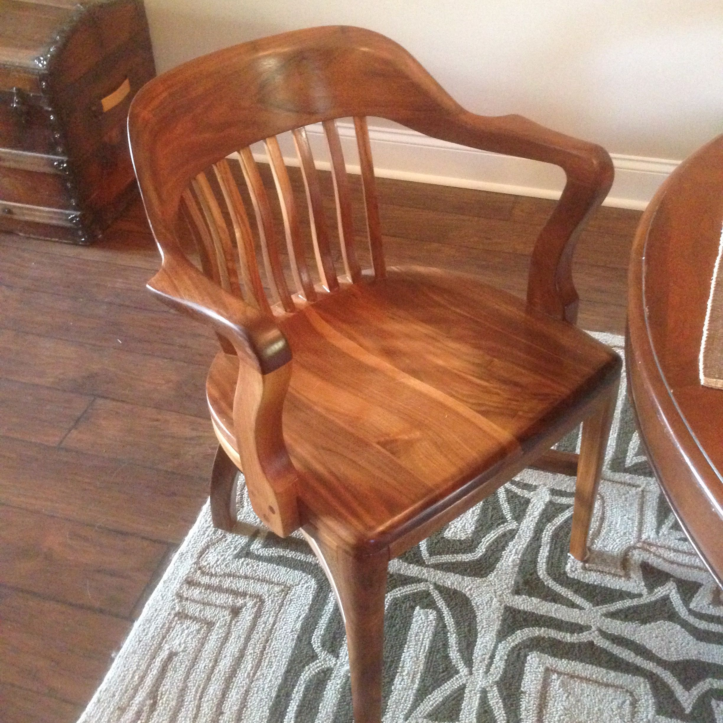 Wooden Bankers Chair My Refinished Johnson Chair Company Classic Banker S Chair