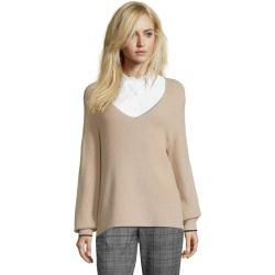 Photo of Betty & Co, Strickpullover mit V-Ausschnitt, beige Betty & Co
