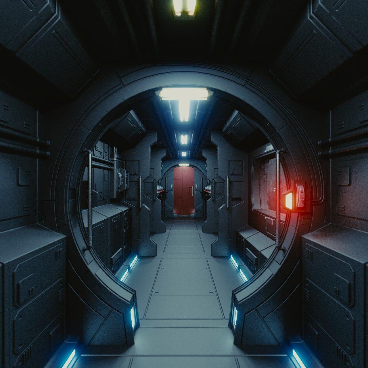 3dsmax Interior Spaceship Space Station In 2019