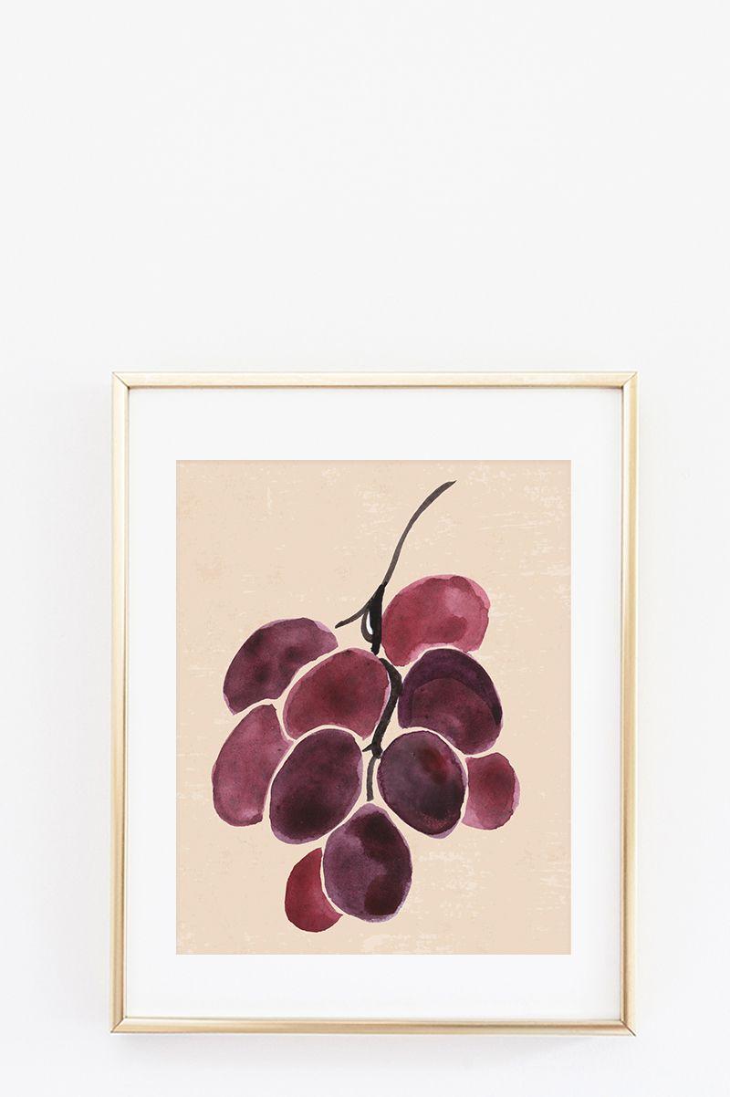 Free Kitchen Wall Art - Fruit Art Series | Pinterest | Kitchen wall ...