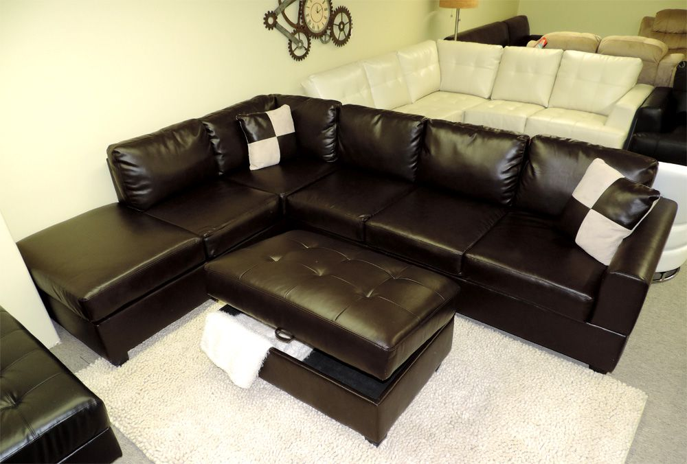 Great Sacramento Black Leather Sectional Sofa With Left Facing Chaise By Urban  Cali | Leather Sectional, Leather Sectional Sofas And Sectional Sofa