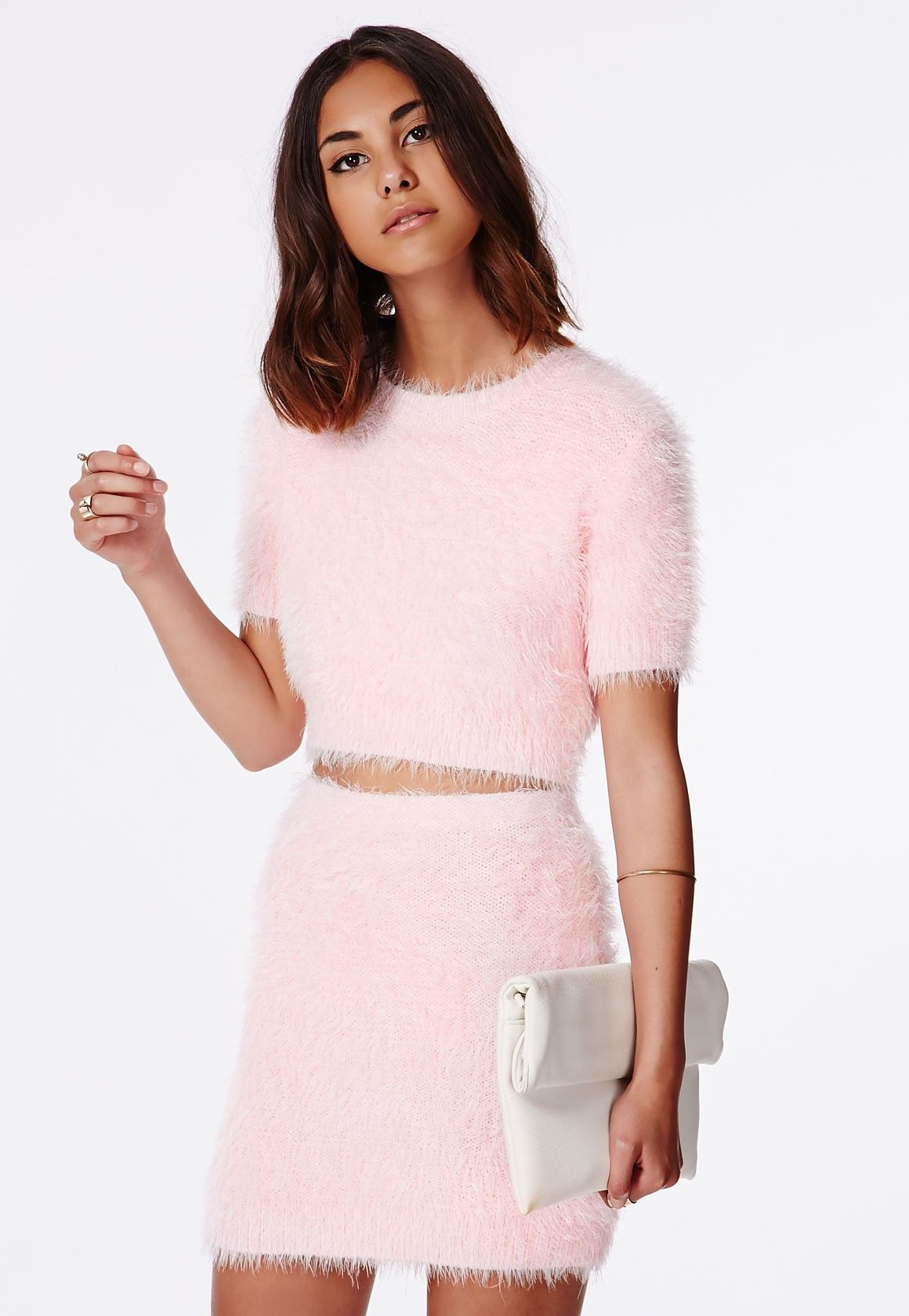 Pull ClairClothes Rose Court Alycia Poilue En Laine Missguided by6f7g