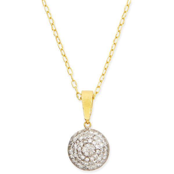 Gurhan lentil ice 24k gold diamond pendant necklace 3795 gurhan lentil ice 24k gold diamond pendant necklace 3795 liked on polyvore aloadofball Images