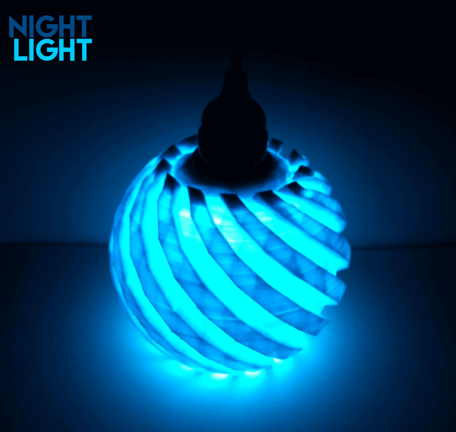 Image Of 3d Printed Lamp Shades To Diy Night Light Night Light Lamp Light