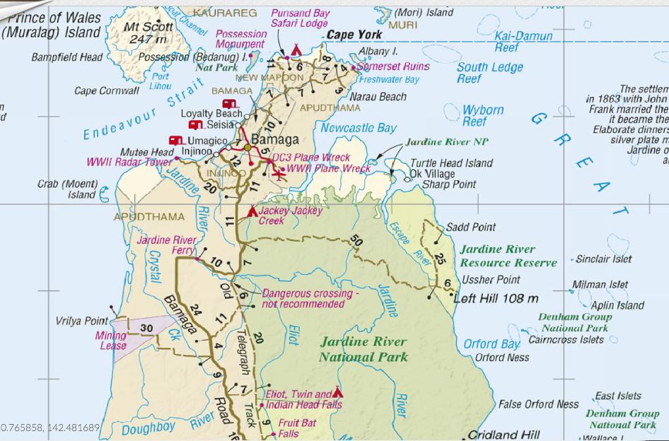 Map Of Australia Cape York Peninsula.Cape York 4wd Guide Cape York York Peninsula York Map