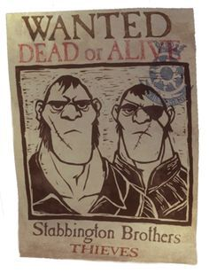 Stabbington Brothers Printable Wanted Poster Form The Rapunzel