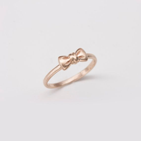 bow rings gold pretty ring bowfinger rhinestone products