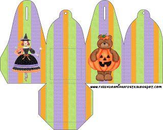 Halloween Bruxinha Fofinha - Kit Completo com molduras para