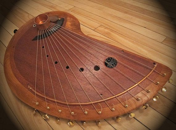 Handmade Wooden, Musical String Instrument.Harp Like Sound. 12 Note. Easy To