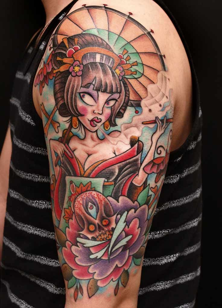 New School Pin Up Tattoo New School Tatt...