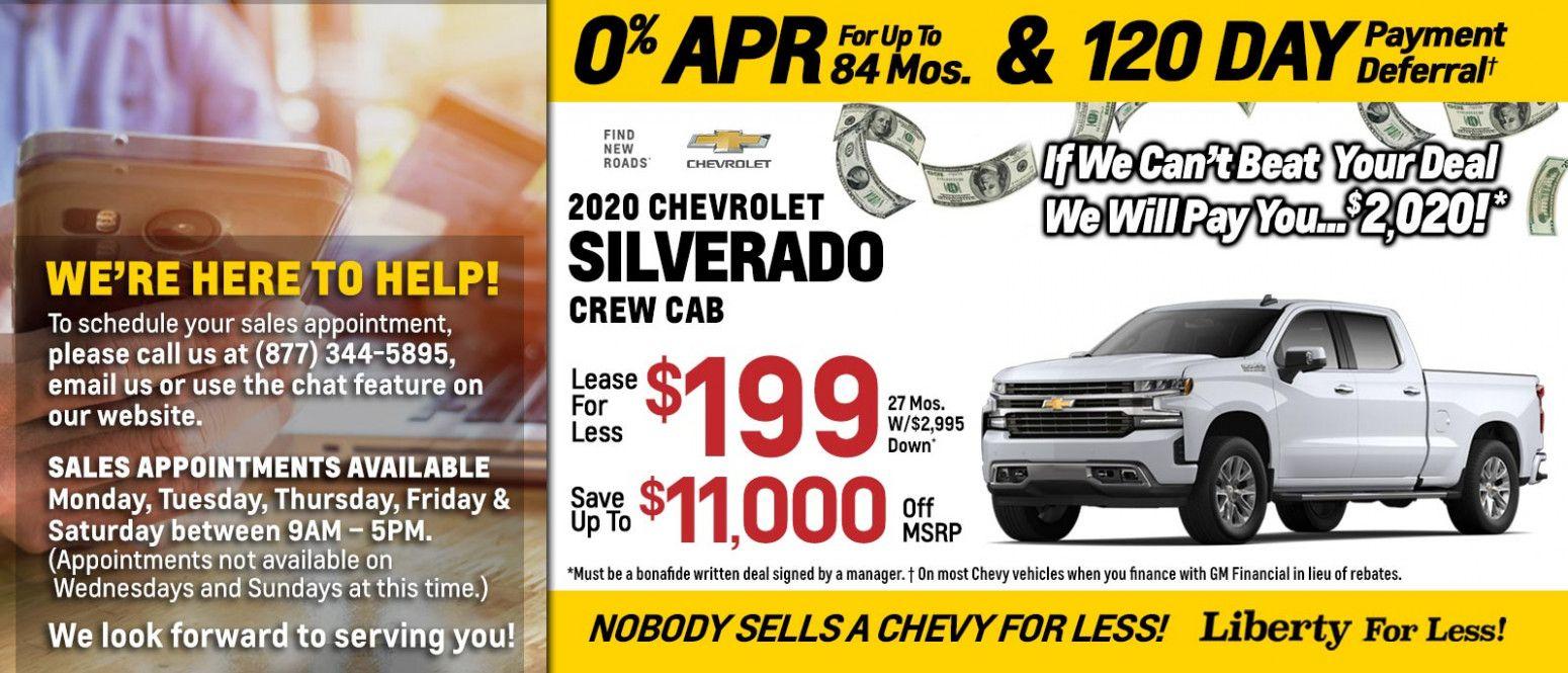 2020 Chevrolet Rebates Chevrolet Chevy Dealerships New Chevy