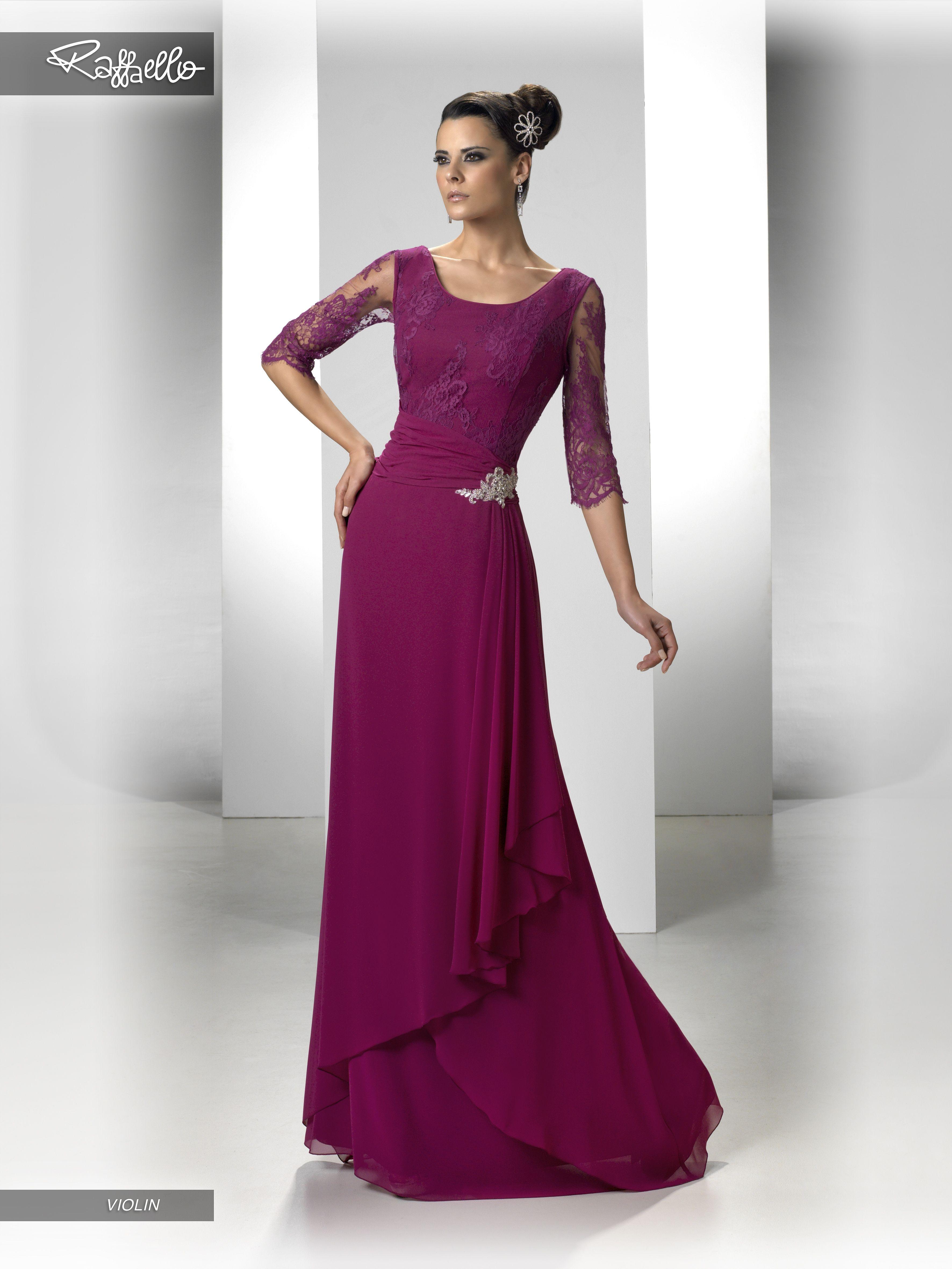 VIOLIN (Vestido de Fiesta). Diseñador: Raffaello. ... | Para ...